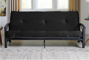 Futon Mattress Guest Spare Room Sofa Bed Full Size Black Couch Mattress Only