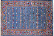 5and039 10 X 8and039 0 Hand-knotted Khorjin Super Kazak Wool Rug - Q10118