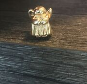 Authentic Pandora Gold Angel Of Hope Charm Bead - Pre-owned 14kt Gold 585 Ale