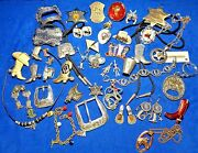 Huge Vintage And Mod Western Rodeo Cowboy Theme Mixed Jewelry Lot And Collectibles