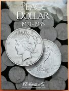 1921-1935 Peace Silver Dollar Book Full Set - 24 Coins. The 1928 Coin Is Holed