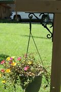 Farmhouse Style Plant Hanger Cast Iron / Wall Post Mounted, B-55