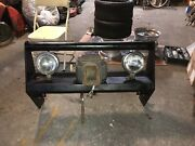 Vintage 67-77 Ford F150 F250 Heavy Duty Push Bar Grill Guard W/winch And Lights