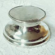 Antique English Approx 1913 Solid Silver Capstan Inkwell Reg No. A4591