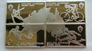 Benin 1999 Olympics 1000 Francs Set Of 4 Silver Coinsproof