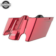 Velocity Red Sunglo Stretched Saddlebags Extend Bag Rear Fender For 14+ Harley