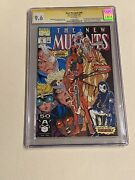 New Mutants 98 1st Appearance Deadpool 9.6 Cgc Ss Signed Rob Liefeld