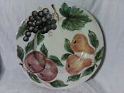 Priced To Sell - Ethan Allen - Italy - 14 Fruit Pattern Serving Platter.