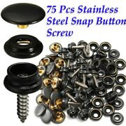 Stainless Steel Boat Cover Canvas Snap Fastener Repair Kit- 25 Piece Sl Marine