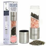 Dual Salt And Pepper Grinder Manual Stainless Steel Shakers And Combined Travel Case