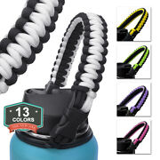 Au_ Cup Holder Water Bottle Handle Strap Fits Wide Mouth-paracord For Hydro-flas