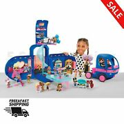 Surprise 4 In 1 Glamper Fashion Camper Girls Doll Play Travel Toys Electric Blue