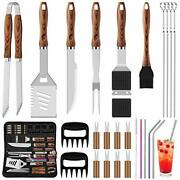 New Bbq Grill Accessories Tools Set Stainless Steel Grilling Barbecue Case, 27pc