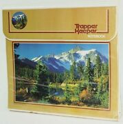 Vntg 90and039s Mead Trapper Keeper 3 Ring Binder Blue Lake Mountains Trees 29096
