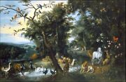 Perfect 36x24 Oil Painting Handpainted On Canvas The Garden Of Eden10821