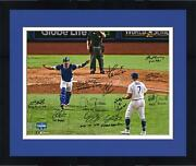 Frmd Dodgers 2020 Ws Champs Signed 16 X 20 Photo With 12 Sigs And Inscs - Le 7