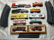 Ho Scale Bundle Entire Set Lot Of 24 With 2 Engines 6 Cars 2 Cabooses14 Track