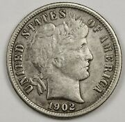 1902-s Barber Dime. Natural Uncleaned. A.u. 131967