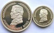 Keeling Cocos 1977 Mint Box Set Of 2 Silver Coins1025 Rupeesproofrare