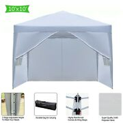3x3m Two Doors And Two Windows Practical Waterproof Right-angle Folding Tent White