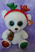 Ty Frost The Bear Beanie Boo Claire's Exclusive Christmas 2018 6 Nwnmt