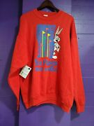 Six Flags Great America Bugs Bunny Crewneck Sweater Xxl Sf5 1994 Red