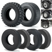 Rubber Tyres Wheel Tires For Tamiya 114 Rc Car Trailer Tractor Truck Front Rear