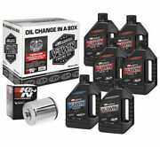 Maxima Twin Cam Synthetic 20w-50 Filter Kit 90-119016c With Chrome Filter