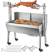 Bbq Pig Lamb Rotisserie Spit Roaster Roast Electric Stainless Steel Grill Smoke