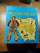 Genuine Leather Western Frontier Holster Set W/guns And Bullets Beautiful Works