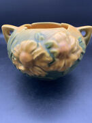 Vintage Roseville Pottery Peony Rose Bowl 427-4. No Defects