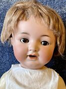 """Antique 20"""" German Bisque Kammer Reinhardt 126 Doll W/mohair Wig Andgreat Outfit"""