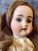 """Antique 18"""" German Bisque Catterfelder 101 Doll W/nice Wig And Great Outfit"""
