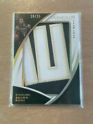 2017-18 Immaculate Sterling Brown Bucks Team Logo Jumbo Prime Patch /25