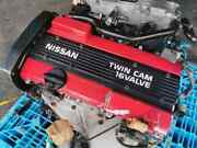 91-97 For Nissan Silvia 200sx Specr S13 180sx Ca18 Red Engine Motor