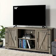 28 Tv Stand Entertainment Center Wood Storage 2 Barn Cabinets For Tvs Up To 65