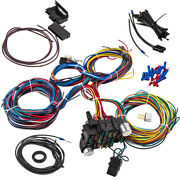 Wiring Harness 21 Circuit 17 Fuses Kit Universal Connector For Signals Flasher