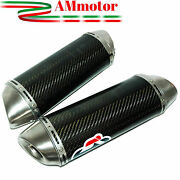 Termignoni Yamaha Yzf R1 2011 Exhaust Muffler Motorcycle Silencers Oval Carbon