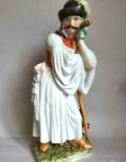 Vintage 1940s Statue Hungarian Figurine With Herend Tube Porcelain Hand Painted