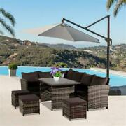 9 Seat Rattan Furniture Outdoor Sofa Dining Table With Free Rain Cover - Choice