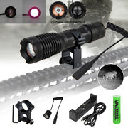 Tactical 10w Ir 940nm Infrared Zoom Flashlight Hunting Lamp Night Vision Torch