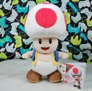 Super Mario All Star Collection Red Toad 8 Plush Little Buddy / Sanei Genuine