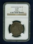 England King Charles I 1633-34 1 Shilling Silver Coin Certified Ngc Vf-35