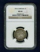 England George Iii 1816 1 Shilling Silver Coin Uncirculated Certified Ngc Ms64