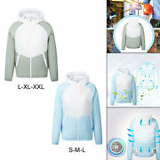Men Air Conditioned Clothes Fan Cooling Vest Coat Jacket Cold For Outdoor