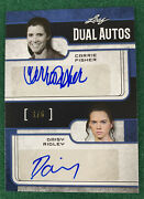 2017 Leaf Pop Century Carrie Fisher Daisy Ridley Dual Auto Star Wars Autograph