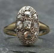 1.25 Ctw Slice Antique Rose Cut Grey And Champagne Diamond Righthand Cocktail Ring