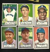 1952 Topps 6 Dif Exmt W/mickey Vernon 34 38 106 27 95 3 Cardianls St.louis
