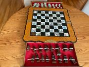 Original Handmade Chinese Chess Set Ivory Pieces Marble Inset Board Est. 1920