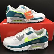 Nike Air Max 90 Iii 3 Spruce Lime Cz2908-100 Menand039s Multi Size New Free Shipping